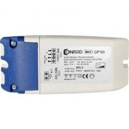 Elektronický transformátor Conrad Maus, DP 60, 20 - 60 VA, 230 V/11,5 V, bílá/modrá