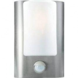 Venkovní LED svítidlo nástěnné s PIR čidlem, E27, max. 60 W, nerez