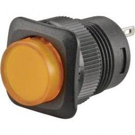 Tlačítkový spínač s aretací TRU COMPONENTS TC-R13-508B-05YL, 250 V/AC, 1.5 A, žlutá, 1x vyp/zap