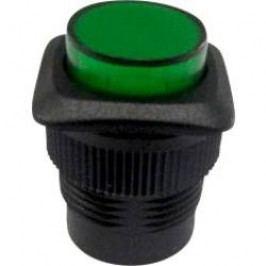 Tlačítkový spínač s aretací TRU COMPONENTS TC-R13-508B-05GN, 250 V/AC, 1.5 A, zelená, 1x vyp/zap