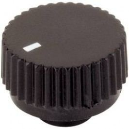 Otočný knoflík s ukazatelem TRU COMPONENTS TC-17/6/SW203, (Ø x v) 17 mm x 12 mm, černá, 1 ks
