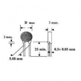 Keramický kondenzátor THT TRU COMPONENTS TC-K330PF500V, 330 pF, 500 V, 10 %, 1 ks