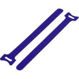 Kabelový manažer na suchý zip TRU COMPONENTS TC-MGT-125BE203, (d x š) 125 mm x 12 mm, modrá, 1 ks