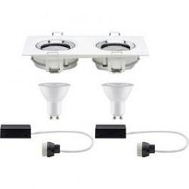 LED vestavné koupelnové svítidlo - LED Paulmann Nova 92902, 14 W, bílá (matná), chrom