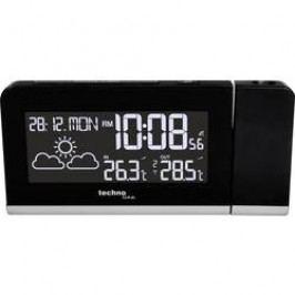 DCF budík s projekcí a předpovědí počasí Techno Line WT 539, černá