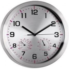 Quartz nástěnné hodiny Mebus 41934, vnější Ø 30 cm, hliník