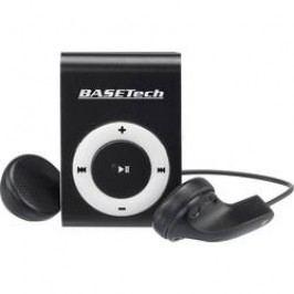 MP3 přehrávač Basetech BT-MP-100, upevňovací klip, černá/bílá