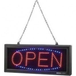 Informační LED panel Mc Crypt Open OPEN-1, červená, modrá