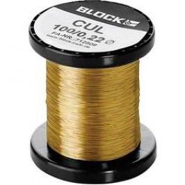Měděný drát smaltovaný lakem Block CUL 200/0,15, vnější Ø 0.15 mm, 1 balení