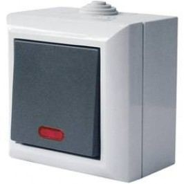 Vypínač s kontrolkou GAO Business-Line, 9164, šedá