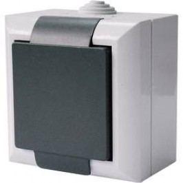 Zásuvka Schuko s krytem GAO Business-Line, 9167, šedá