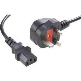 Síťový kabel Goobay 51323, zástrčka (Anglie) <=> IEC zásuvka, 1.80 m, černá