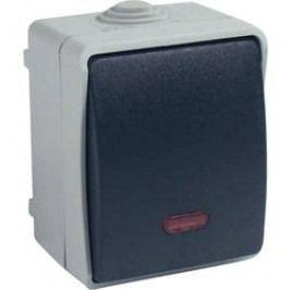 Vypínač s kontrolkou GAO Standard, 9877, šedá