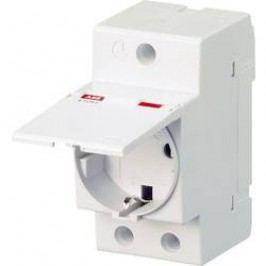 Zásuvka na DIN lištu ABB E 1175c, 16 A, 250 V, s víčkem, 2CSM211000R0721