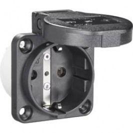 Zásuvka se sklopným víkem PCE för Maskin 601.450.01, IP54, černá