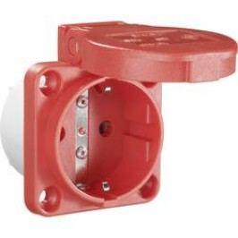 Zásuvka se sklopným víkem PCE för Maskin 601.450.04, IP54, červená