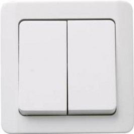 Vypínač GAO Nova AP, 0330, dvojitý, bílá