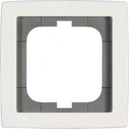 Krycí rámeček na jednu zásuvku Busch-Jaeger Solo, bílá