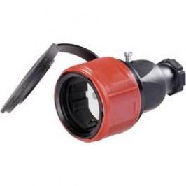 Gumová spojka s ochranným kontaktem, 230 V, černá