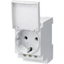 Zásuvka na DIN lištu Siemens 5TE6801, 16 A, 250 V, s víčkem