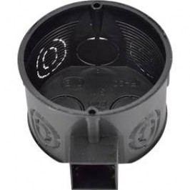 Kombinovaná spínačová krabice, 60 mm, černá