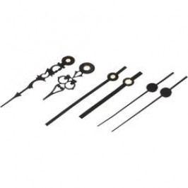 Sada hodinových ručiček Starožitné (h x m x s) 55 mm x 75 mm x 60 mm, hliník, černá, 3 páry
