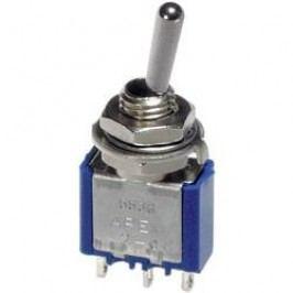 Páčkový spínač APEM 5539A / 55390003, 250 V/AC, 3 A, 1x zap/vyp/zap, 1 ks