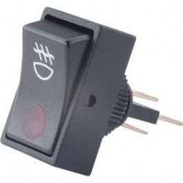 Kolébkový přepínač do auta SCI R13-207B2 RED, 12 V/DC, 20 A, s aretací, 1 ks