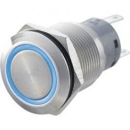 Tlačítko antivandal bez aretace TRU COMPONENTS LAS1-AGQ-11E, GN, 250 V/AC, 5 A, nerezová ocel, 1x zap/(zap), zelená