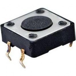 Tlačítko bez aretace TE Connectivity 1437565-2, 24 V/DC, 0.05 A, černá, 1x vyp/(zap)