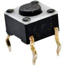 Tlačítko bez aretace TE Connectivity 1825910-2, 24 V/DC, 0.05 A, bílá, 1x vyp/(zap)