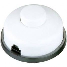 Nášlapný vypínač interBär, 1pólový, 250 V/AC, 6 A, bílá