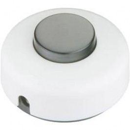 Nášlapný vypínač interBär, 1pólový, 250 V/AC, 2 A, bílá/černá
