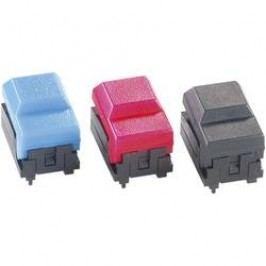 Subminiaturní ploché tlačítko s LED - černé