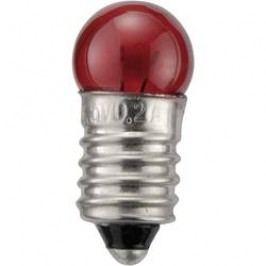 Kulatá žárovka Barthelme, 3,5 V, 0,7 W, 200 mA, E10, červená