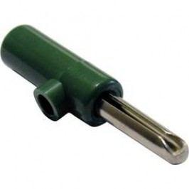 Banánkový šroubovací konektor 4 mm, 60 V, 16 A, zelená