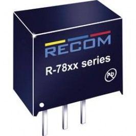 DC/DC měnič Recom R-783.3-0.5, výstup 3,3 V/DC / 0,5 A, vstup 4,75 - 34 V/DC, SIP 3