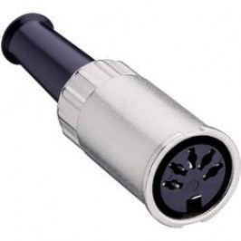 DIN kruhový konektor Lumberg 0122 05 zásuvka, rovná, Pólů: 5, stříbrná, 1 ks