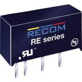 DC/DC měnič Recom RE-2415S, vstup 24 V/DC, výstup 15 V/DC, 66 mA, 1 W