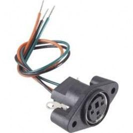 Mini DIN konektor BKL 204027, zásuvka vestavná vertikální, 6pól., černá