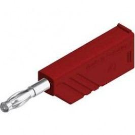 Lamelový konektor Ø 4 mm SKS Hirsch LAS N WS (934100101), zástrčka rovná, červená