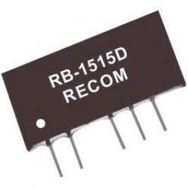 DC/DC měnič Recom RB-2405D, vstup 24 V/DC, výstup ±5 V/DC, ±100 mA, 1 W