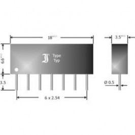 Usměrňovací diodové pole Diotec DAN601, U(RRM) 80 V, 6 x 33 mA