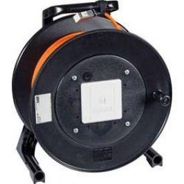 Kabelový buben CAT 6 S/FTP, ohnivzdorný, 90 m, šedá
