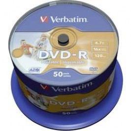 DVD-R 4.7 GB Verbatim 43533, s potiskem, 50 ks, vřeteno
