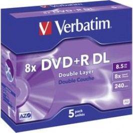Verbatim DVD+R DL 8,5GB 8X 5 ks JEWELCASE