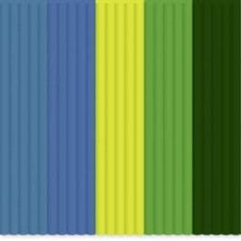 Sada vláken pro 3D tiskové pera 3Doodler PL-MIX8, PLA plast, 2.85 mm, 55 g, světle zelená, žlutá, modrá, petrolejová