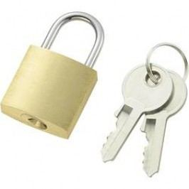 Visací zámek na klíč 110496, 21 mm, mosaz