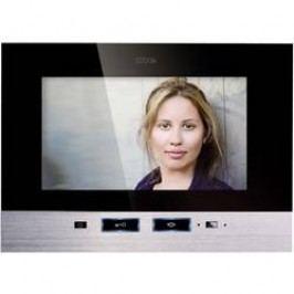 Vnitřní jednotka pro domácí videotelefon m-e VDV-507, 1 rodina, černá/nerez