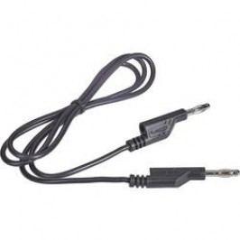 Sada měřicích kabelů banánek 4 mm ⇔ banánek 4 mm Voltcraft, 1 m, černá